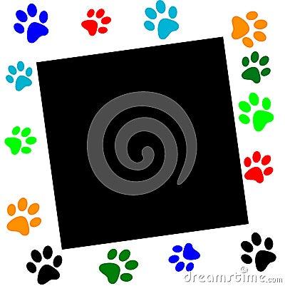 Free Paw Print Border (vector) Stock Photo - 10091990