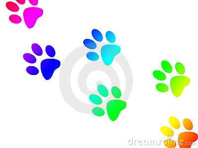 paw print trail royalty free stock images image 10896949