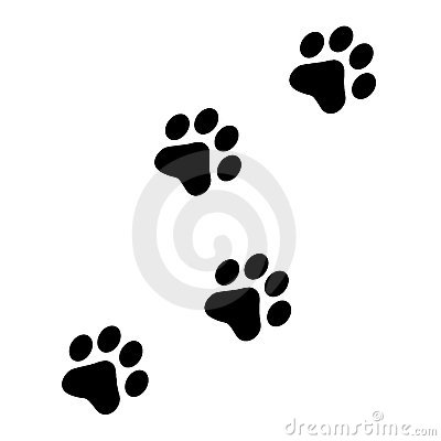 Paw Prints Royalty Free Stock Photography - Image: 5236567