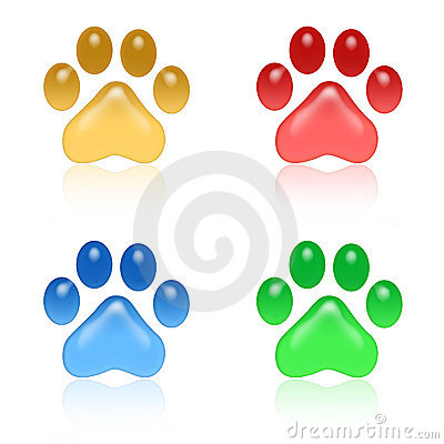 Free Paw Prints Royalty Free Stock Photo - 6142635