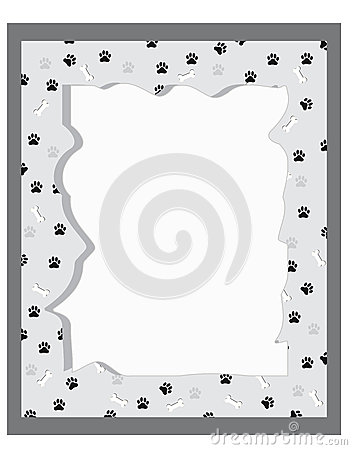 Paw prints boarder