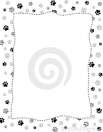 Paw Prints Border Royalty Free Stock Photo - Image: 21615255