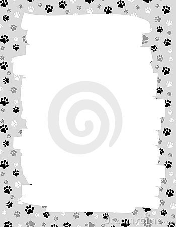 Paw Prints Border Stock Photo - Image: 6936120