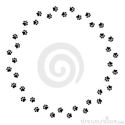 Free Paw Prints Border Stock Images - 6936244