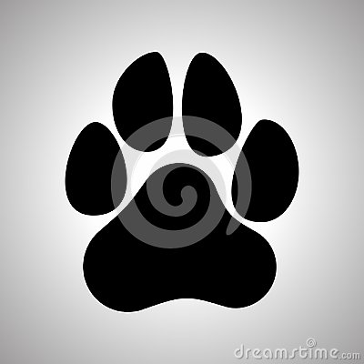 Free Paw Prints. Dog Or Cat Paw Print Flat Icon. Stock Photography - 100468932