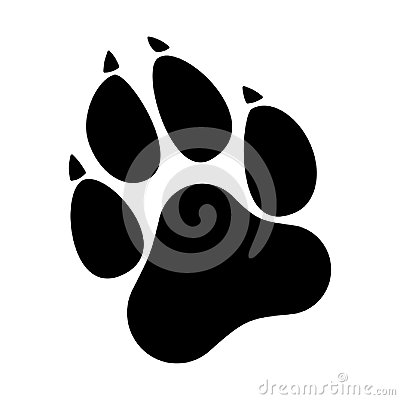 Free Paw Prints. Dog Or Cat Paw Print Flat Icon. Stock Photography - 100468942