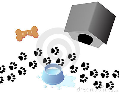 Paw Prints Dog Treat Kennel