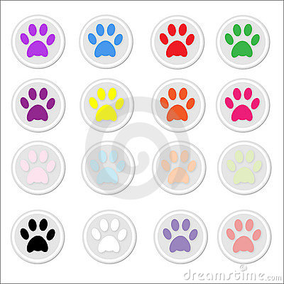 Paw Prints on stickers