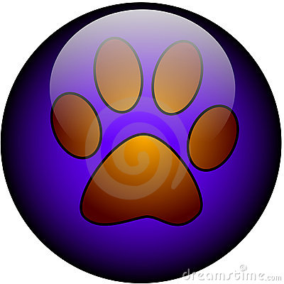 Paw web button