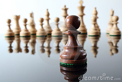 Pawn in front