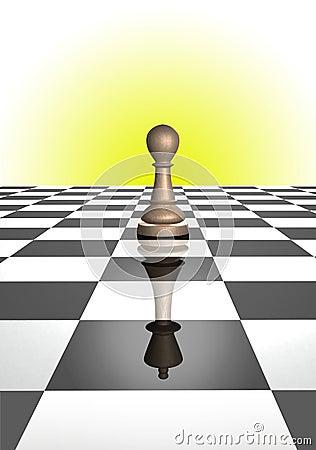 Pawn reflecting king