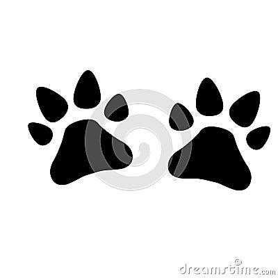 Paws dog - vector illustration Cartoon Illustration