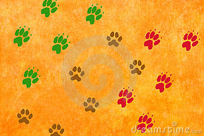 Paws footprints