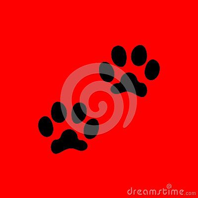 Paws icon. Vector Illustration
