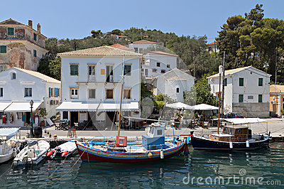 Paxos island in Greece