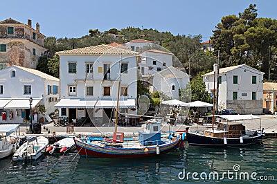 Paxos island in Greece