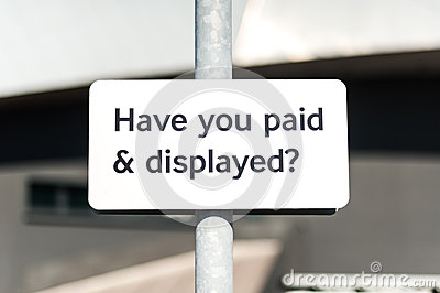 Pay and display carpark sign