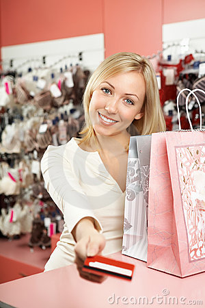 Pay off with a card for purchases