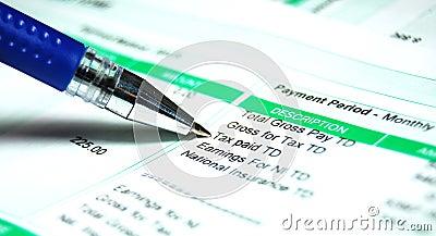 Pay slip tax