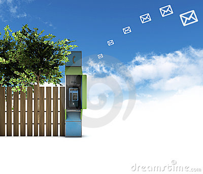 Pay telephone and envelopes