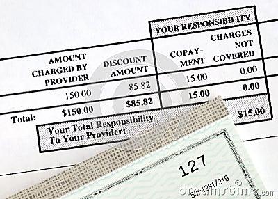 Payez la facture médicale