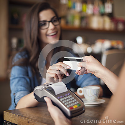 Free Paying By Credit Card Stock Photos - 42707863