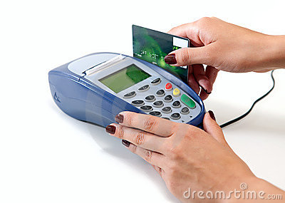 Paying with credit card through terminal