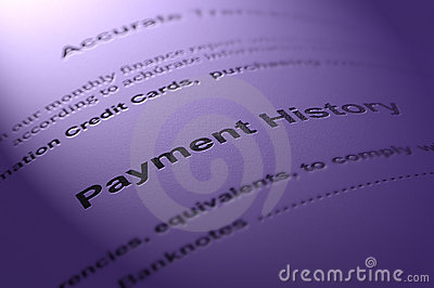 Payment History. Royalty Free Stock Images - Image: 12593569