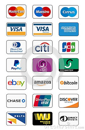 Payment method icons Vector Illustration