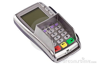 The payment terminal  for payment