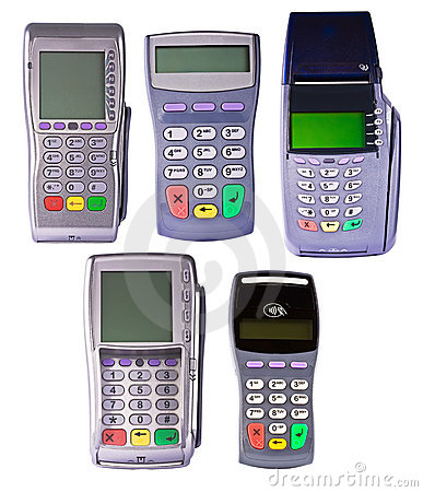 Payment terminals for payment of purchases