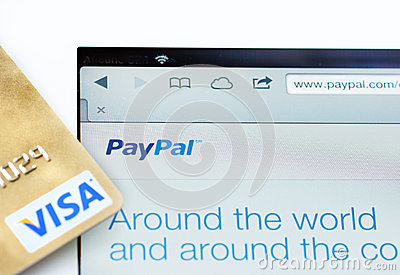 Paypal and Visa WWW Editorial Stock Photo