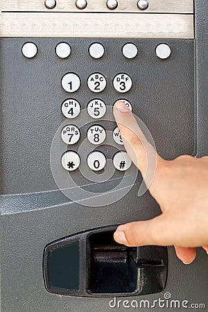 Payphone keypad