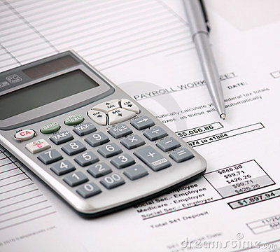 Free Payroll And Calculator Royalty Free Stock Image - 18097496