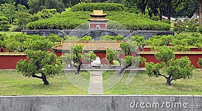 Paysage chinois antique de miniature d 39 architecture photo for Jardin chinois miniature