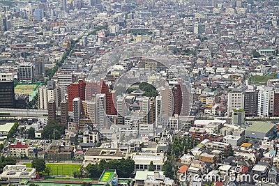 Paysage dense de ville de tokyo photo stock ditorial for Paysage de ville