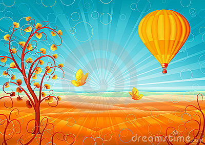 Paysage fantastique d automne