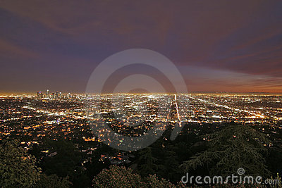 paysage urbain de los angeles photographie stock libre de droits image 7045797. Black Bedroom Furniture Sets. Home Design Ideas