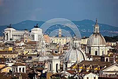 Paysage urbain de Rome