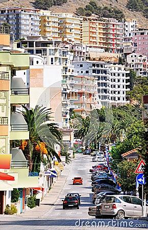 Paysage urbain de ville de saranda photographie stock for Paysage de ville