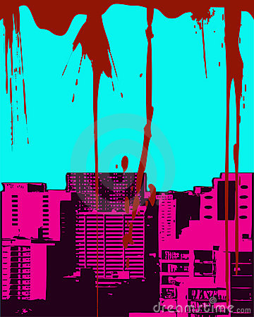 Paysage urbain grunge