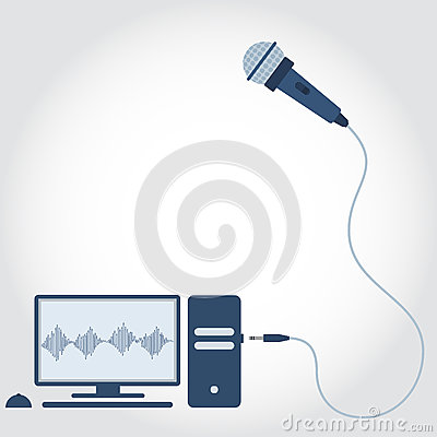 Free PC And Microphone Royalty Free Stock Images - 90063899