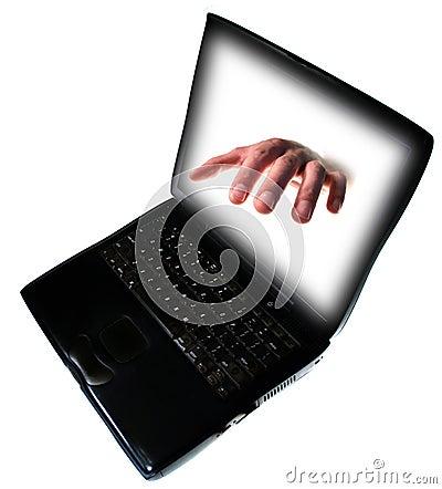 Pc laptop internet crime