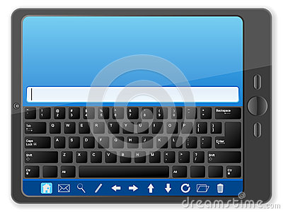 PC tablet with keyboard