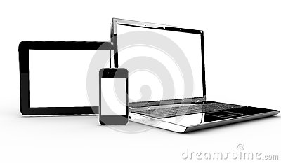Pc, tablet and phone