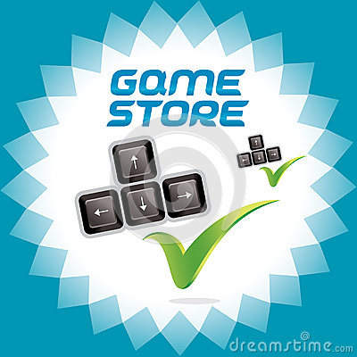 PC and Video Arcade Games Accept Icon, Button, Sig