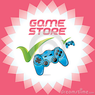 PC and Video Game Joystick for Web and Print Desig