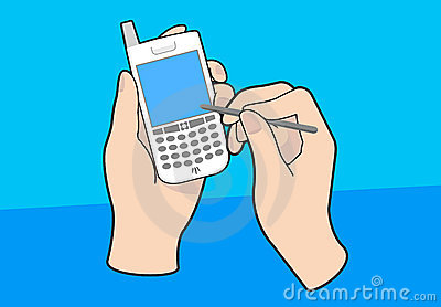 PDA cellphone with hands