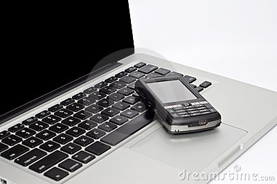 PDA Phone on Laptop