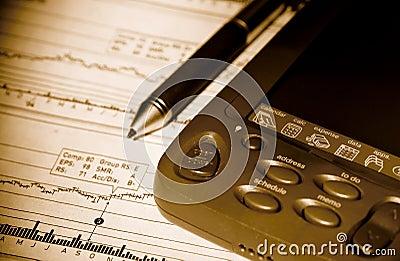 PDA and Stock Chart